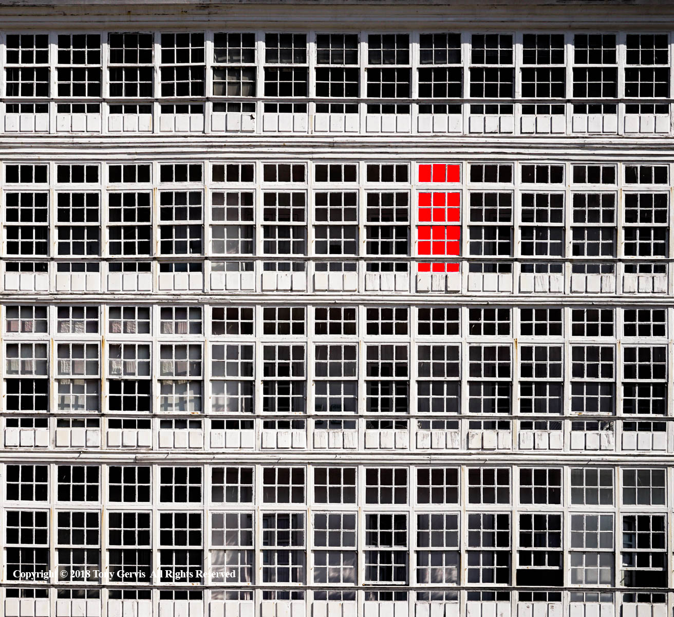 Red Windows by Tony Gervis