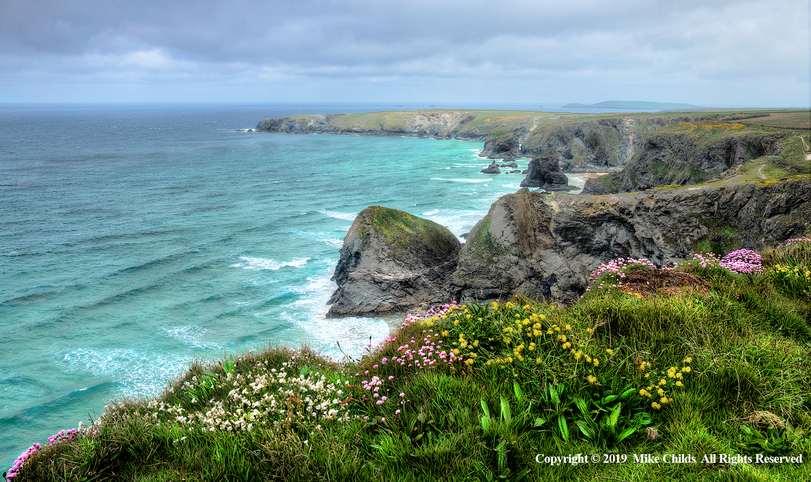 North Cornish Coast towards Bedruthan Steps by Mike Childs