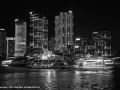 Waterfront at Night by Linda Allen
